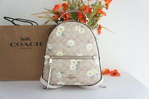 NWT Coach C2856 Jordyn Signature Daisy Backpack Bag Tote Floral Khaki White $428