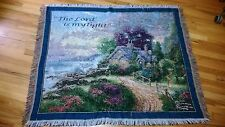 """A VINTAGE TAPESTRY """"THE LORD IS MY LIGHT!""""by THOMAS KINKADE"""