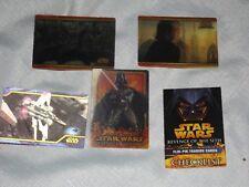 STAR WARS REVENGE OF THE SITH FLIX-PIX HOLOGRAM CARDS-DARTH VADER-4 FLIX CARDS