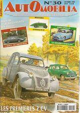 AUTOMOBILIA 30 LES 6CV 1938 CITROEN 2CV MONICA ROSENGART RENAULT 4CV 1946 53