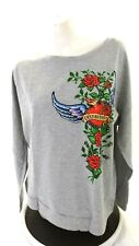 NWT EASY RIDERS WOMEN'S HEARTLESS GRAY LONG SLEEVED TEE T-SHIRT SIZE 2X