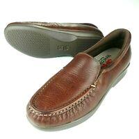 SAS Tripad Comfort Womens Loafers Brown Leather Slip Ons Size 6 N (Narrow)
