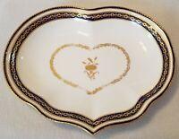 "Circa 1800 Derby Porcelain Heart Shaped Dessert Dish Pattern 42 w/ puce Mark 10"""