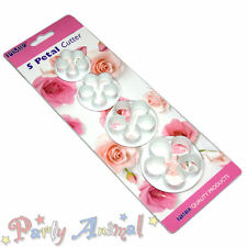 PME 5 Petal Small Flower Sugarcraft Cutters -4 Set- Rose,Blossom,Cake Decoration