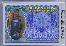 2006-2007 Bowman Basketball Dee Brown McDonalds All American Blue Jazz Jersey RC