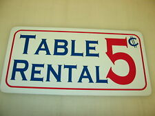 Table Rental Metal Sign vintage style Pool Table billiards 4 Pool Hall or Bar