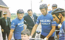 Carte 22x14 de Rik van Looy avec deux de ses équipiers de Willem II Gazelle 1968
