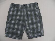 Billabong Walkshorts Shorts Sz 32 Teal BLue Plaid