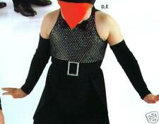 New Sm Ch Black Mitts Dance Costume elbow length