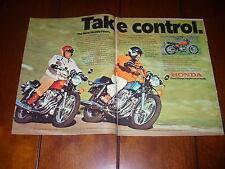 1975 HONDA CB 400F CB 750F - THE NEW HONDA FOURS ***ORIGINAL 2 PAGE AD***