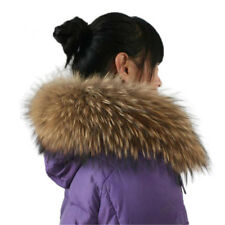 Real Raccoon Fur Collar Scarf/Shawl/Wrap Neck cap Warmer Scarves 80*14cm