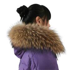 Real Raccoon Fur Collar Scarf/Shawl/Wrap Neck cap Warmer Scarves 80*15cm