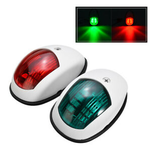 Port Starboard LED Navigation Lights Marine Boat Yacht Side Light  Green Red