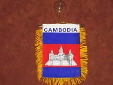 "CAMBODIA FLAG MINI BANNER 4""x6"" CAR WINDOW MIRROR NEW"