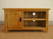 Used OAK TV unit with 1 Door TV Cabinet Stand Adjustable Wooden Storage Shelf