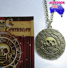 Pirates of the Caribbean Jack Sparrow Aztec Coin Pendant Necklace Bronze