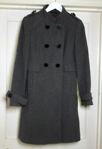 Principles Womens Grey Wool Coat size 10
