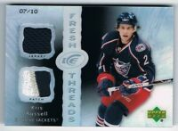 2007-08 Upper Deck Ice Fresh Threads Patch Black Parallel Kris Russell 07/10 !!