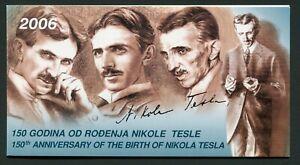 Serbia & Montenegro Booklet 2006 150th Anniversary Nikola Tesla Panes MNH