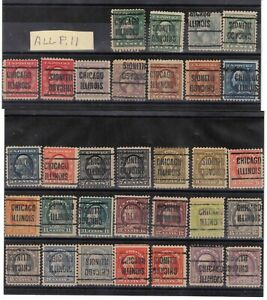 JimbosStamps, U.S.precancels,1917 Wash. Frank. issues , CHICAGO ILLINOIS
