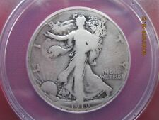 1919-D Walking Liberty Half Dollar ANACS Certified VG-8 Details
