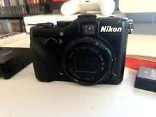 Nikon COOLPIX P7100 10.1MP Digital Camera Charger 3 Batteries Nikon Strap Black