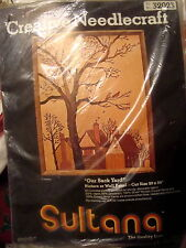 """Vintage Sultana Needlepoint Kit 32023 """"Our Back Yard"""" Picture 16"""" x 20""""  USA NIP"""