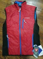 VAUDE Premium Outdoor Vest Quality Material Waterproof Men's Sz L 52 indian red