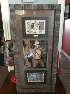 Harrison Ford Rare Signed Framed Matted Indiana Jones Movie Photo + COA