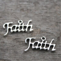 20pcs Faith charms silver tone Faith charm Pendants,24x13mm