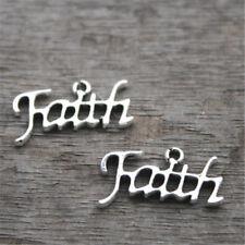 20pcs Faith charms silver tone Faith charm Pendants,24x13mm