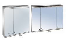 Luxury 3 Door Stainless Steel Bathroom Mirror Cabinet