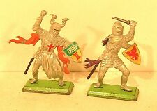 "lot figurines DEETAIL britains "" chevaliers "" X2 vintage"
