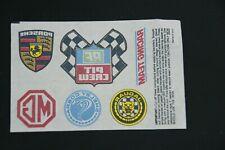 Racing Automobile Fabric Transfers; Porsche, Jaguar, Shelby Cobra, MG