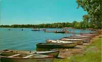 Postcard Bathing Beach And Shoreline, Epworth Forest, Lake Wester, IN
