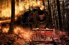 STEAM TRAIN LOCOMOTIVE LANDSCAPE POSTER 24x36 HI RES