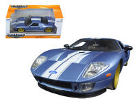 2005 Ford GT Blue 1:24 Detailed & Collectible Diecast Car by Jada - 97366AB-bl