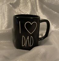 "BRAND NEW Rae Dunn Black ""I LOVE (Heart) DAD"" Coffee Mug"
