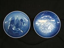 "Lot of 2 Bing & Grondahl Christmas Plates 1971 & 1982 7"" Diameter Vgc"