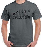 Golf Evolution Mens Funny Golfing T-Shirt Golfer Club Iron Balls Putter Tee