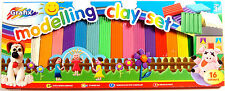 2 x 16 COLOURS OF NON TOXIC PLASTICINE IN THIS GRAFIX CLAY MODELLING CRAFT SET