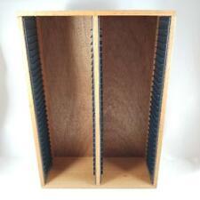 Vintage Wooden 60 Cd Storage Rack Display Shelf Holder Solid Wood Compact Disc