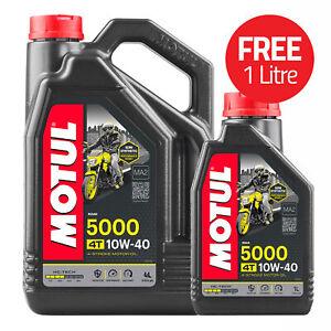 Motul 5000 4T Semi Synthetic 4 Stroke 10W40 Motorcycle / Bike Engine Oil 5 Litre