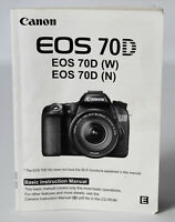 Canon EOS 70D (W) (N) High Performance Basic Instructions **EX**
