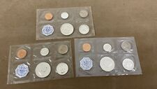 LOT OF 3 1958 (2) + 1964 (1) SILVER U.S. PROOF SETS 90% BEAUTIFUL BRIGHT CLEAN