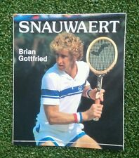 Nos 1970s Vintage Snauwaert Brian Gottfried Tenis Pegatina Sergio Tacchini
