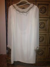 ABS White Pearls & Chains Embedded Sexy Mini Dress Size 4