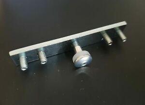 IKEA Kvartal Steel Connecting Rail Joiner w/5 Hex Studs +1 Cap/Mounting Fastener