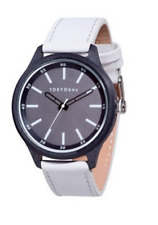 TokyoBay White Leather Quartz Analog Unisex Watch T366-WH