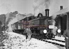 PHOTO  GWR LOCO  6412 AT TINTERN RAILWAY STATION ON 4TH JAN 1959